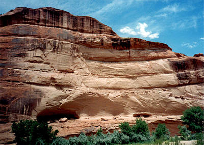 Photograph - Cliff Homes In Canyon De Chelly 1993 by Connie Fox