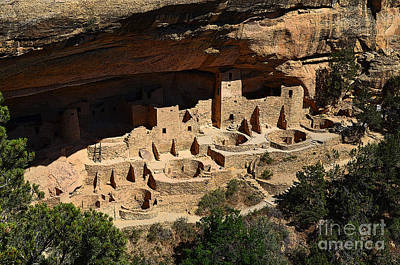 Digital Art - Cliff Palace At Mesa Verde National Park Anasazi Ruin Poster Edges by Shawn O'Brien