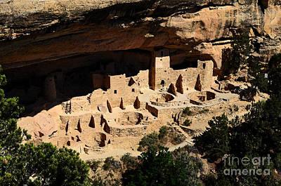 National Parks Digital Art - Cliff Palace At Mesa Verde National Park Anasazi Ruin Watercolor Digital Art by Shawn O'Brien