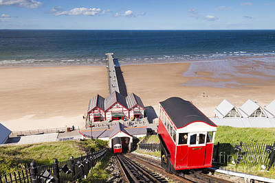 Cliff Railway Saltburn By The Sea Art Print