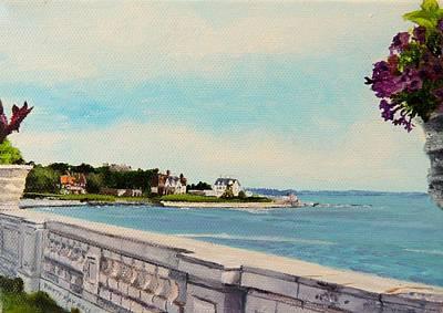 Reginae Painting - 40 Steps Cliff Walk Newport Ri by Patty Kay Hall