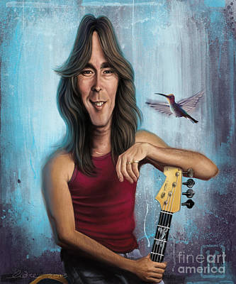 Caricatures Digital Art - Cliff Williams by Andre Koekemoer