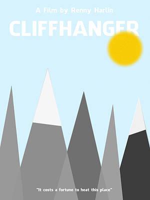 Digital Art - Cliffhanger Minimalist Movie Poster by Celestial Images