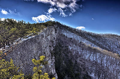 Cliffs Along North Fork Mountain Trail - West Virginia Art Print by Brendan Reals