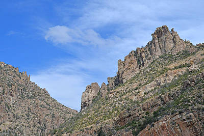 Photograph - Cliffs Along The Catalina Mtn. Highway by Alan Lenk