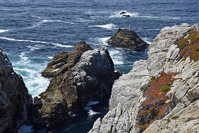 Point Lobos Reserve Photograph - Cliffs And Coastline At California's Point Lobos State Natural Reserve by Bruce Gourley