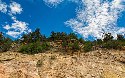 Photograph - Cliffs And Layers At Dakota Ridge by John M Bailey