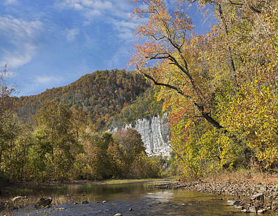 Buffalo National River Photograph - Cliffs And River Roark Bluff Buffalo by Tim Fitzharris