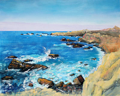 Painting - Cliffs At Gerstle Cove California by Asha Carolyn Young