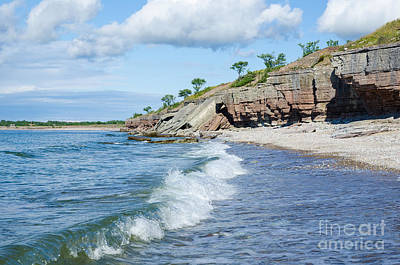 Photograph - Cliffs By The Coast by Kennerth and Birgitta Kullman