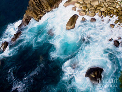 Digital Art - Cliffs In Acapulco Mexico II by Kenneth Montgomery