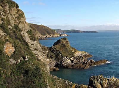 Cliffs In Cornwall Near Mevagissey Art Print by Kiril Stanchev