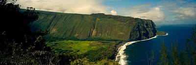 Cliffs In The Sea, Waipio Valley, Big Art Print by Panoramic Images