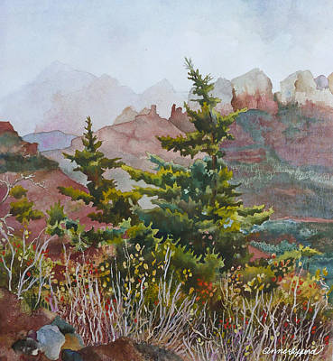 Cliffs Near Sedona Art Print by Anne Gifford
