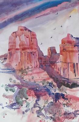 Cliffs Near Sedona Print by Micheal Jones