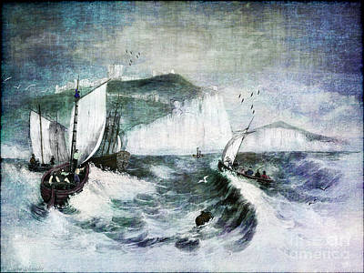 Old Boat Digital Art - Cliffs Of Dover by Lianne Schneider