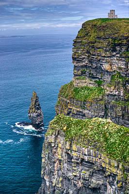 Deep Blue Photograph - Cliffs Of Moher 41 by Douglas Barnett