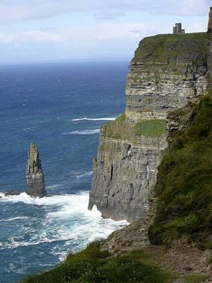 Portraits Royalty-Free and Rights-Managed Images - Cliffs of Moher 7 by Mike McGlothlen