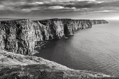 Photograph - Cliffs Of Moher Black And White by Pierre Leclerc Photography