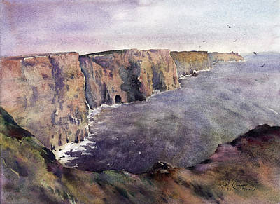 Fineartamerica.com Painting - Cliffs Of Moher County Clare Ireland by Keith Thompson