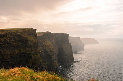 Cliffs Photograph - Cliffs Of Moher Emerging From The Haze by AMB Fine Art Photography
