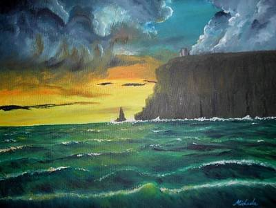 Moyers Painting - Cliffs Of Moher by Michaela Gonzalez