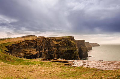 Cliffs Photograph - Cliffs Of Moher Under A Cloudy Sky by AMB Fine Art Photography