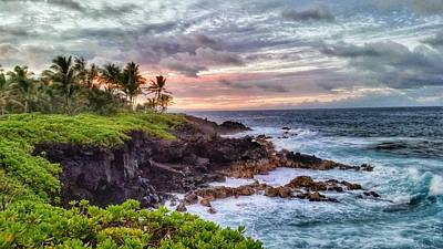 Photograph - Cliffs Of Pahoa by Beth Hughes