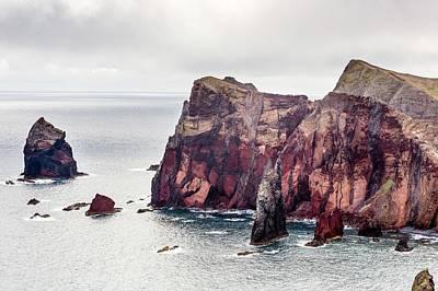 Cliffs Of Ponta De Sao Lourenco Art Print by Dr Juerg Alean