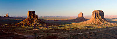 Cliffs On A Landscape, Monument Valley Art Print by Panoramic Images