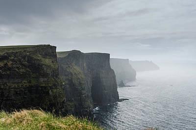 Cliffs Photograph - Cliffs Under The Clouds by AMB Fine Art Photography