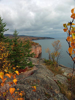 Peterson Nature Photograph - Cliffside Fall Splendor by James Peterson