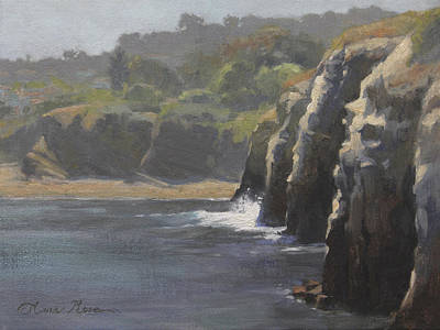 La Jolla Painting - Cliffside Surf La Jolla by Anna Rose Bain