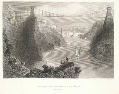 Bristol Photograph - Clifton Suspension Bridge by British Library