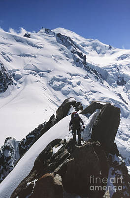 Photograph - Climber On Mt Blanc In France by Soren Egeberg