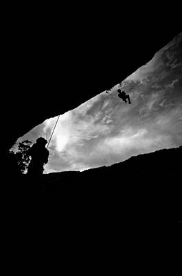 Climber Silhouette 1 Art Print by Chase Taylor