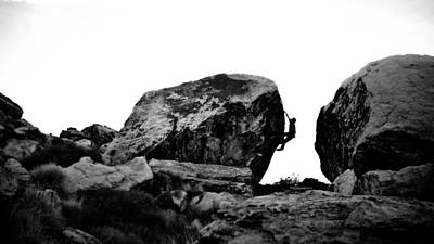 Climber Silhouette 4 Art Print by Chase Taylor