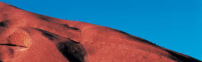 Uluru Photograph - Climbers Ayers Rock Uluru Park Australia by Panoramic Images