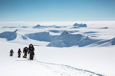 Group Of Seven Photograph - Climbers On Mt Vinson by Peter J. Raymond