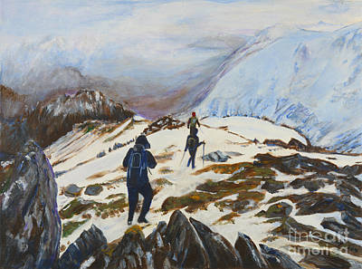 Climbers - Painting Art Print by Veronica Rickard