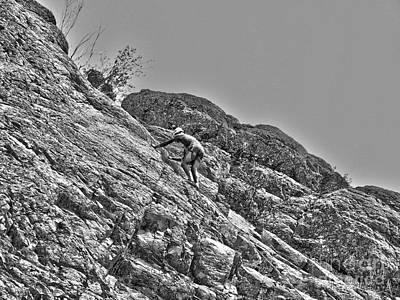 Climbing Art Print by Christian Jansen