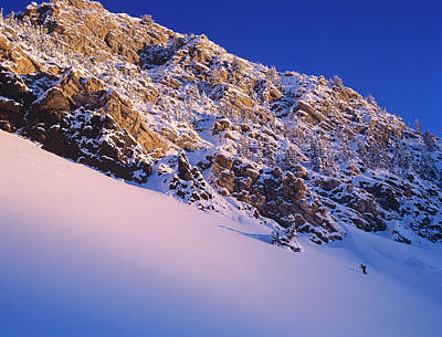 Climbing In Little Cottonwood Canyon Art Print by Howie Garber