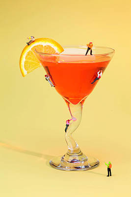 Martinis Photograph - Climbing On Red Wine Cup by Paul Ge