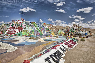 Climbing Salvation Mountain Art Print by Hugh Smith