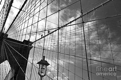 Climbing The Bridge Print by Delphimages Photo Creations