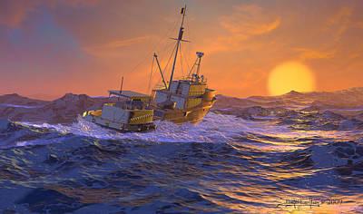 Climbing The Sea Art Print by Dieter Carlton