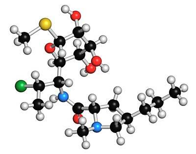 Molecule Photograph - Clindamycin Antibiotic Molecule by Molekuul