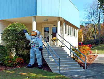 Photograph - Cline Administration Building Main Entrance by Duane McCullough