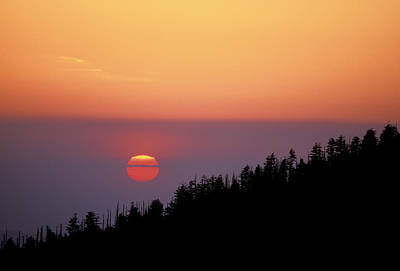 Photograph - Clingman's Dome Sunset 02 by Jim Dollar