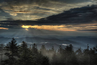 Photograph - Clingman's Dome Sunset by Coby Cooper